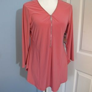 Chaus zip front top Size - M
